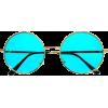 Retro Metal Round Sunglasses - Темные очки -
