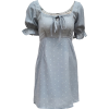 Retro Party Puff Sleeve Wave Dress - Dresses - $27.99