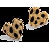 Retro Peach Heart Leopard Earrings Nhjq284951 - Ohrringe -