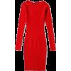 Retro peach heart collar dress - Dresses - $23.19