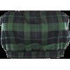 Retro short zip plaid stomacher - Maglie - $15.99  ~ 13.73€