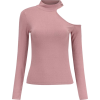 Retro slanted shoulder-length collar but - 長袖シャツ・ブラウス - $35.99  ~ ¥4,051