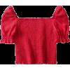 Retro square neck elastic top - Camisa - curtas - $19.99  ~ 17.17€