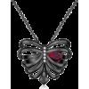 Rib Cage garnet Heart - Necklaces - $99.00