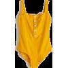 Ribbed Button Up Swimsuit - Trajes de baño -