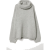 Ribbed Turtleneck Sweater - プルオーバー -