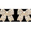 Ribbon Stud Earrings - Aretes -