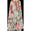 Richard Quinn Drape-Effect Floral-Printe - sukienki -