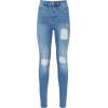 Ripped Blue Jeans - Jeans -
