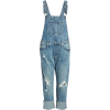 Ripped Cuffed Denim Overalls LUCKY BRAND - Overall -