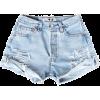 Ripped Denim Shorts - Hlače - kratke -