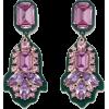 River Island Green Pink Drop Earrings - Naušnice - £10.00  ~ 83,59kn