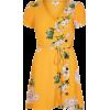 River Island Floral Mustard Dress - Vestidos -