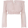 River Island Light Pink Bardot Top - Long sleeves shirts -