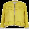 River Island Yellow frill tweed jacket - Jakne i kaputi -