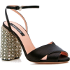 Rochas Crystal Heel Sandal - Sandals - $1,010.00