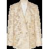 Rodarte Double-Breasted Metallic Tweed B - Kurtka -