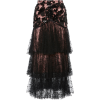 Rodarte Sequin And Floral Tulle Skirt - Skirts -