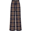 Rokh Plaid Crepe Wide-Leg Pants - Capri & Cropped -