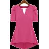 Rose Shirred Waist T Shirt - Shirts - $42.00
