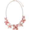 Rose Gold-Tone & Pink Floral Necklace - Necklaces -