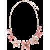 Rose Gold-Tone & Pink Floral Necklace - Ogrlice -