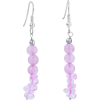 Rose Quartz Dangle Earrings - Kolczyki -