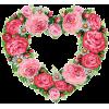 Rose heart wreath frame - Frames -