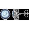 Round Aquamarine Earrings - Ohrringe - $679.00  ~ 583.18€