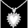 Round Diamond Heart Pendant - Necklaces - $759.00