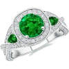 Round,Trillion Emerald Ring - Prstenje - $4,609.00  ~ 29.279,01kn