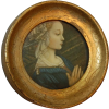 Round Italian renaissance painting - Furniture -