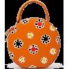 Round Orange Floral Hand Bag - Hand bag -