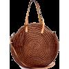 Round Straw Bag - Hand bag -