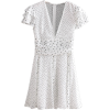 Round wave point short sleeve chiffon dr - Dresses - $29.99