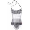 Roxy Kids Girls 7-16 Ruffle One Piece Swinsuit Black/White - Swimsuit - $39.70