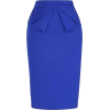 Royal Blue Pencil Skirt - Skirts -