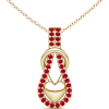 Ruby Encrusted Knot Pendant - ネックレス - $459.00  ~ ¥51,660