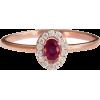Ruby & Diamonds Ring, Mini Diana Diamond - Anelli -