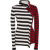 Ruffled Striped Wool-Jersey Turtleneck - Swetry na guziki -