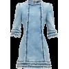 Ruffled denim mini dress £354 - ワンピース・ドレス -