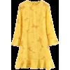Ruffled skirt sun flower waist dress - Dresses - $27.99