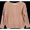Ryan Roche Rose Fisherman Sweater - Pullovers -