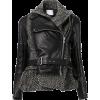 SACAI wool and leather jacket - Kurtka -
