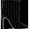 SAINT LAURENT Freja studded velvet ankle - Stivali -