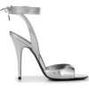 SAINT LAURENT 105mm metallic sheen stile - Sandals -