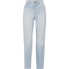 SAINT LAURENT Distressed high-rise strai - Jeans -