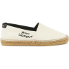SAINT LAURENT Embroidered canvas espadri - scarpe di baletto -