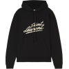 SAINT LAURENT Flocked cotton-jersey hood - Shirts - lang -