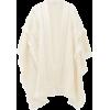SAINT LAURENT Fringed crochet wool ponch - Westen -